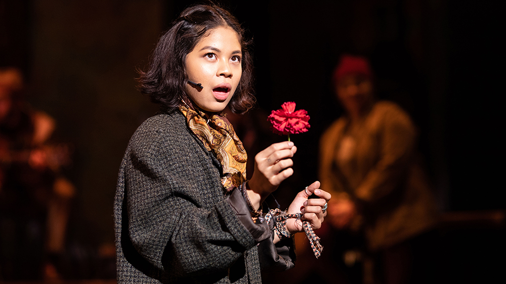 Eva Noblezada in Hadestown.