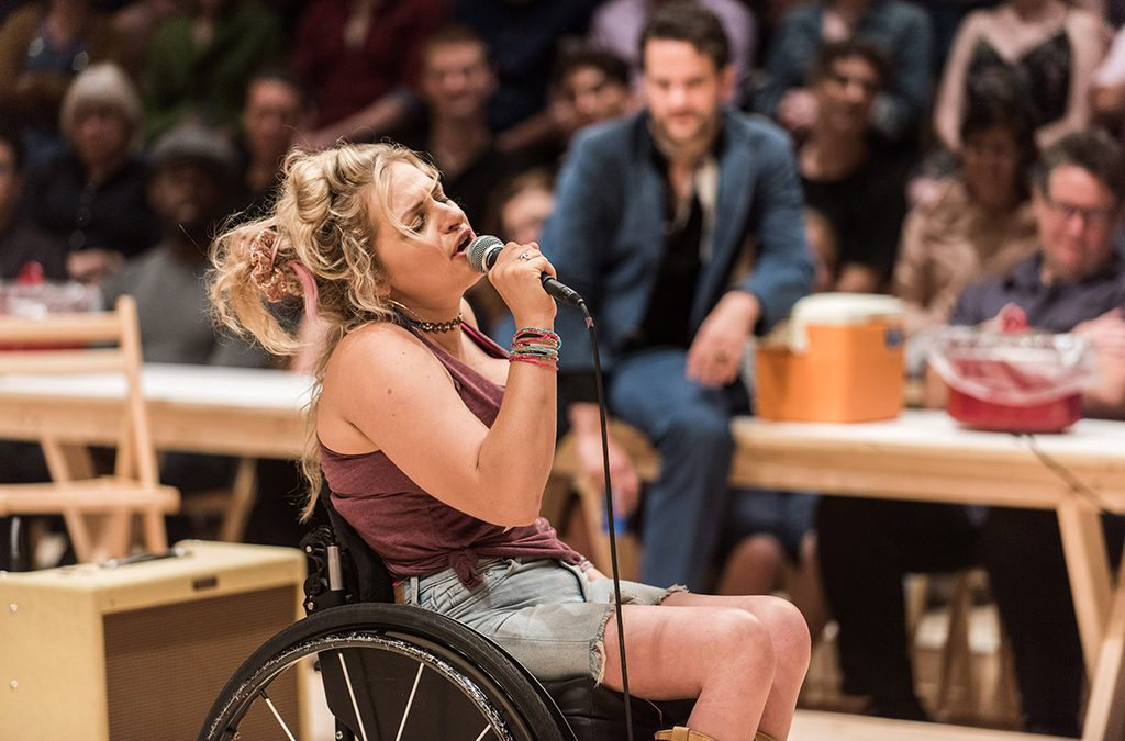 Ali Stroker breaks the physical mold of the sassy, flirtatious comedian in her portrayal of Ado Annie in Broadway's recent revival of Oklahoma!