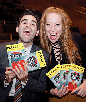 Be More Chill creator Joe Iconis with producer Jennifer Ashley Tepper