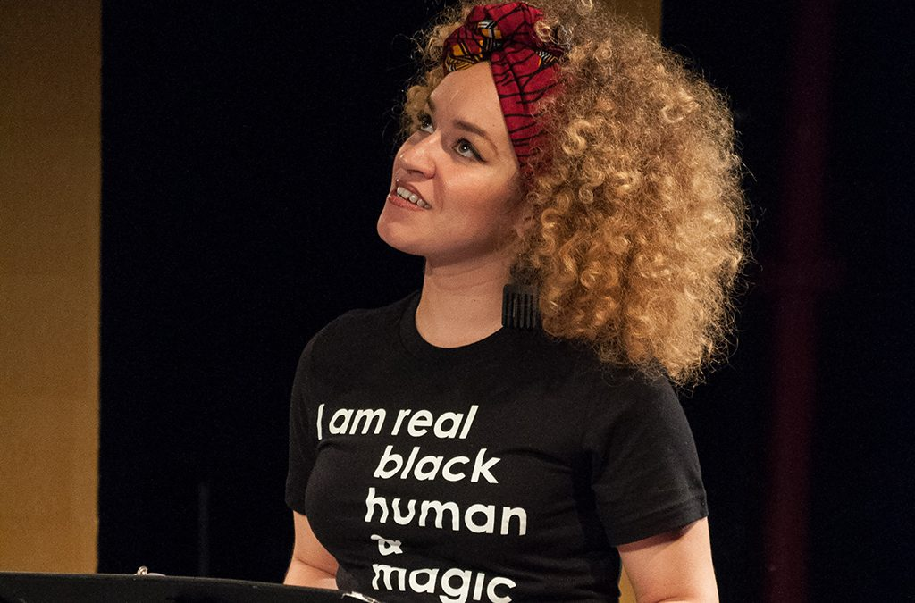 Marie Cisco produced the special event Black Girl Magic, featuring Shannon Matesky, at the National Black Theatre of Harlem.