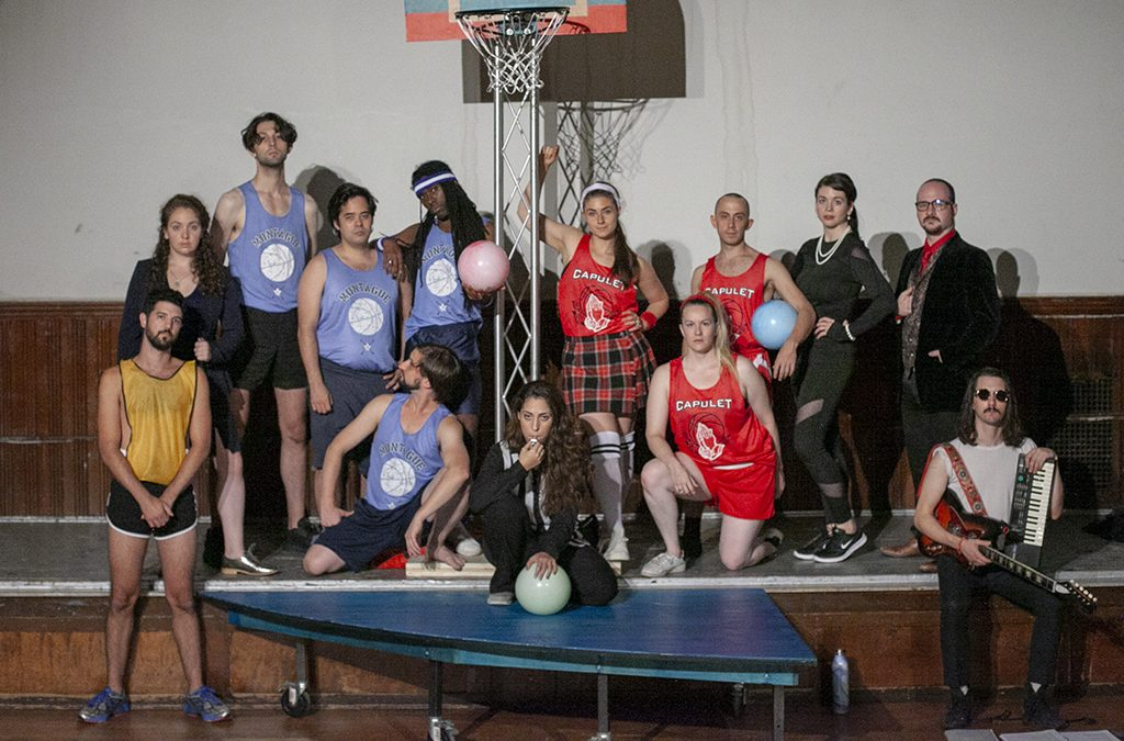 New York-based Stairwell Theater set its 2018 production of Romeo and Juliet with opposing basketball teams.