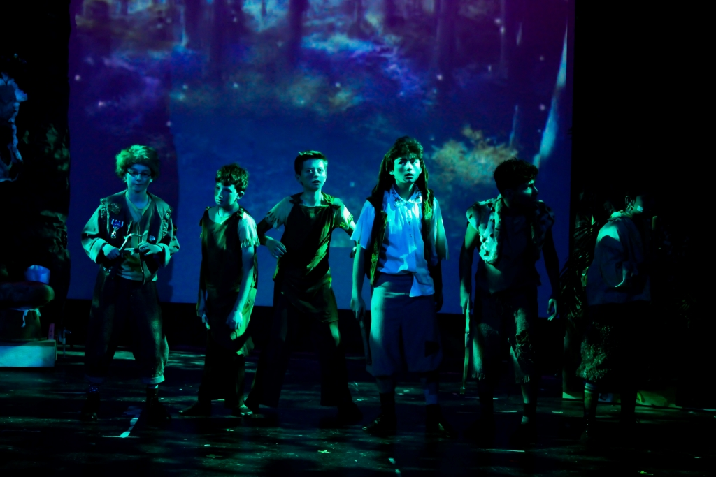 """Peter Pan"" at the Camelot Theatre. Lighting Design by Luis Garcia. Photo by Chelsea Fine and courtesy of Luis Garcia."