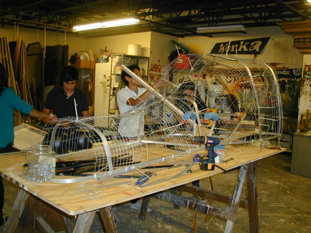 """During his senior year of high school, Garcia helped with the creation of a dragon head for Osceola County School for the Arts' production of """"The Hobbit"""". Photo by Tom Davis and courtesy of Luis Garcia."""