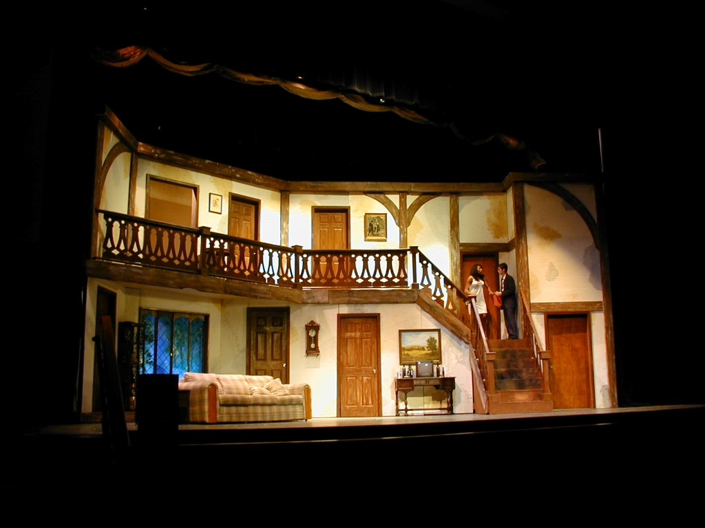 """Garcia ran sound and helped build the set for Osceola County School for the Arts' production of """"Noises Off"""" his freshman year of high school. Photo by Tom Davis and courtesy of Luis Garcia."""