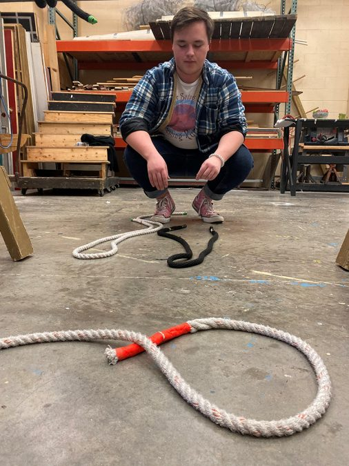 Beau Pumphrey's Mavtechs train seriously for the Tech Challenge competition.
