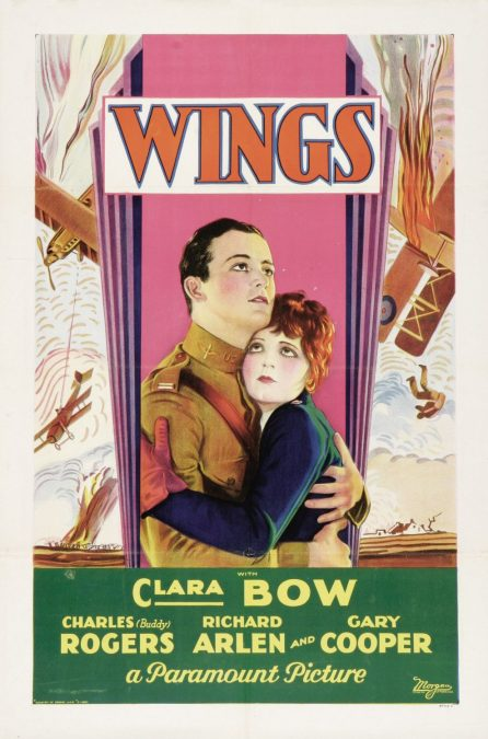 1929: The first Academy Award for Outstanding Picture is presented to Wings.