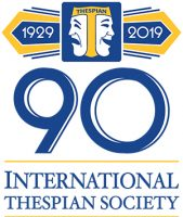 International Thespian Society 90th birthday logo