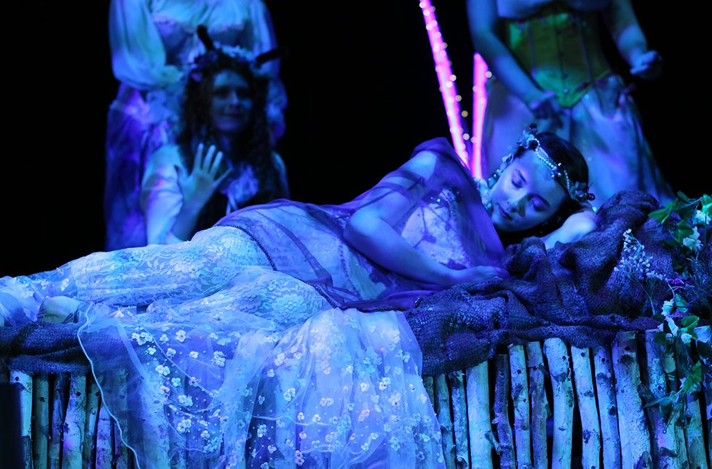 Madeline Burk as Titania in North Penn High School's production of A Midsummer Night's Dream.
