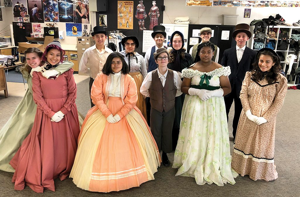 Rachel Hibler's eighth-grade students in costume for their Civil War Day historical reenactment.